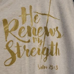 """He renews my strength"" T-shirt"